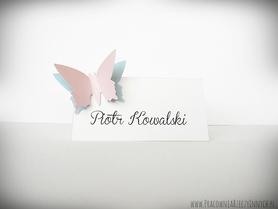 Winietki z podwójnymi motylkami /MOTYL II/