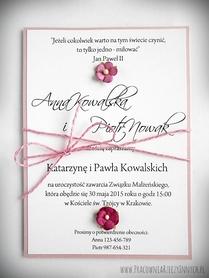 Oryginalne zaproszenia z kwiatuszkami