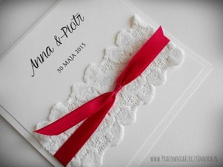 Delikatne zaproszeni z koronkami (6)