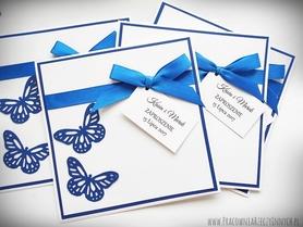 Zaproszenie ślubne z motylami