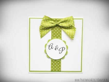 Zaproszenia ślubne z kokardą (2)