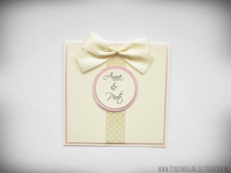 Zaproszenia ślubne z kokardą (7)