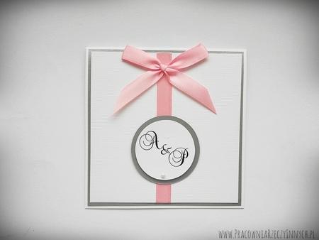 Zaproszenia ślubne z kokardą (4)