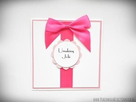 Zaproszenia ślubne z kokardą (3)