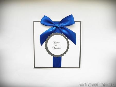 Zaproszenia ślubne z kokardą (1)
