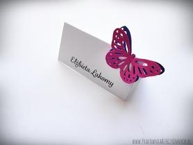 Winietki z dwoma ażurowymi motylami /BUTTERFLY/