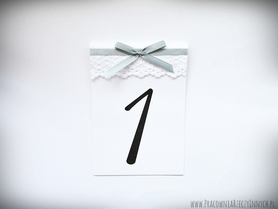 Numery stołów z koronką /DELICATE/