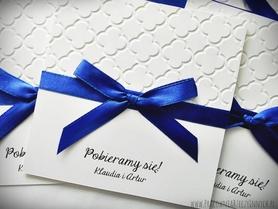 Eleganckie zaproszenia w bieli