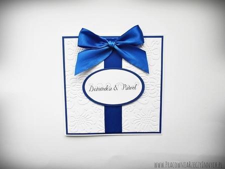 Ślubne zaproszenia na tłoczonym papierze (1)