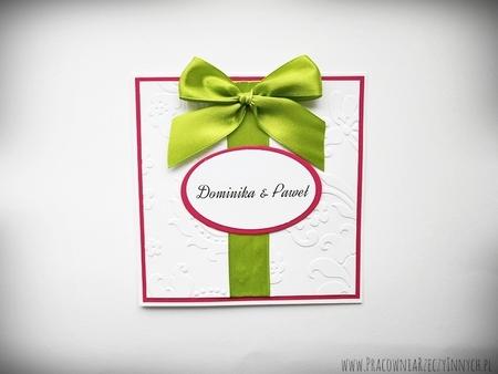 Ślubne zaproszenia na tłoczonym papierze (4)