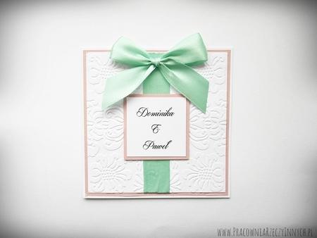 Ślubne zaproszenia na tłoczonym papierze (9)