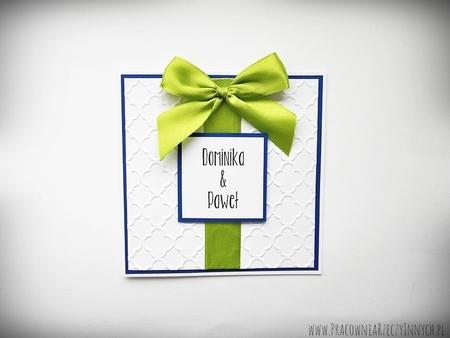 Ślubne zaproszenia na tłoczonym papierze (10)