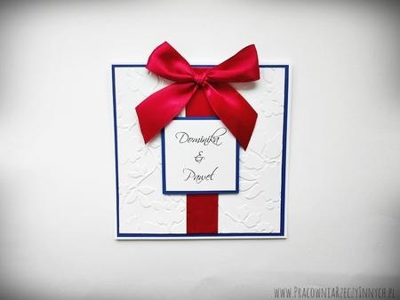 Ślubne zaproszenia na tłoczonym papierze (11)