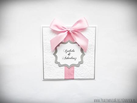 Ślubne zaproszenia na tłoczonym papierze (8)