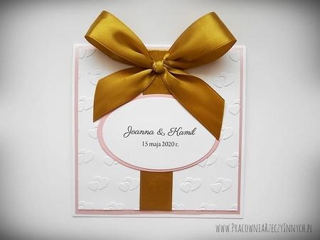 Ślubne zaproszenia na tłoczonym papierze (12)