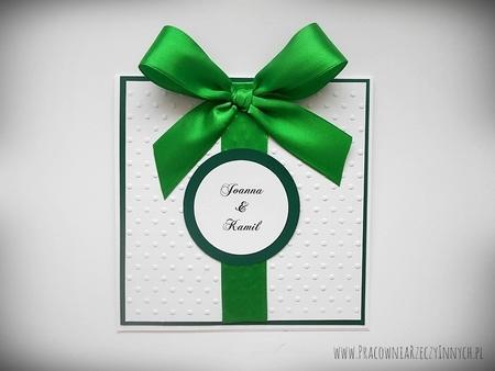 Ślubne zaproszenia na tłoczonym papierze (14)