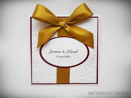 Ślubne zaproszenia na tłoczonym papierze (15)
