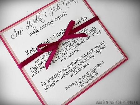 Proste zaproszenia w formie karty (1)