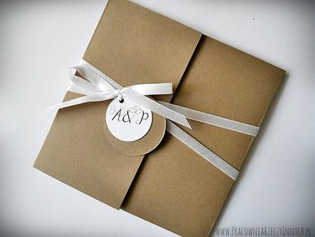 Rustykalne zaproszenia z eko-papieru (15)