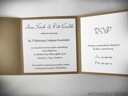 Rustykalne zaproszenia z eko-papieru (21)