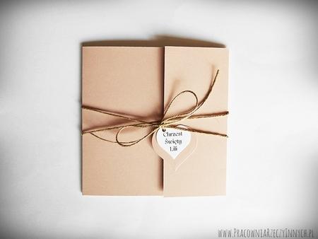 Rustykalne zaproszenia z eko-papieru (17)