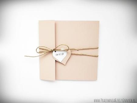 Rustykalne zaproszenia z eko-papieru (12)