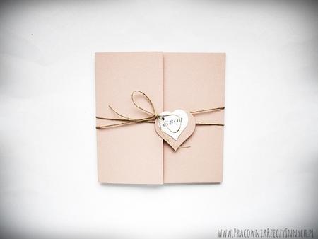 Rustykalne zaproszenia z eko-papieru (11)