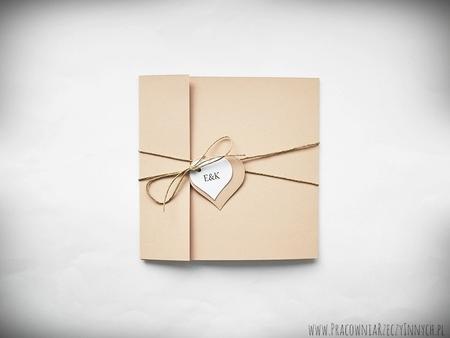 Rustykalne zaproszenia z eko-papieru (1)