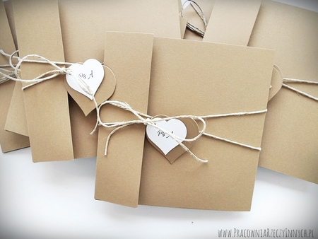 Rustykalne zaproszenia z eko-papieru (24)
