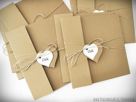 Rustykalne zaproszenia z eko-papieru (25)