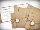 Rustykalne zaproszenia z eko-papieru (8)