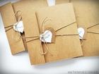 Rustykalne zaproszenia z eko-papieru (2)