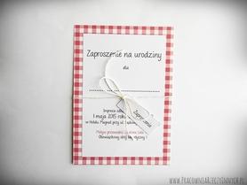 Kropki, paski i inne wzory - zaproszenia w formie karty