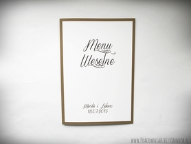 Karta Menu z eko papieru