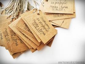 Eko karteczki do słoiczka - podziękowania dla gości