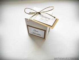 Rustykalne pudełeczko na migdały
