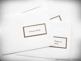Koperty spersonalizowane w stylu zaproszeń