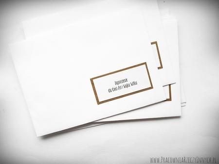 Koperty spersonalizowane w stylu zaproszeń (2)