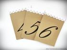 Rustykalne numery stołów z koronką (1)