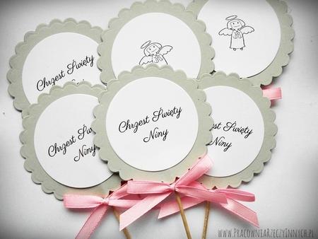 Pikery kwiatuszki - ozdoba stołu, podziękowania. (2)