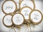 Pikery kwiatuszki - ozdoba stołu, podziękowania. (1)