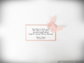 Karteczki do kołacza/ do paczki ciast / podziękowania z MOTYLAMI