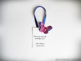Zawieszki z dwoma kolorowymi motylkami /BUTTERFLY/