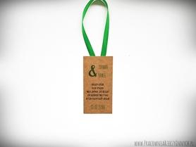 Kolorowe zawieszki na ekologicznym papierze