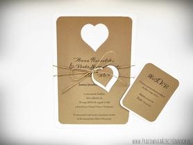 Zaproszenie z eko papieru w formie karty