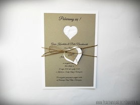 Rustykalne zaproszenia w formie karty