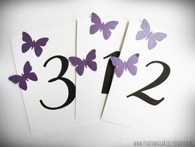 Numery stołów z motylami /MOTYL I/