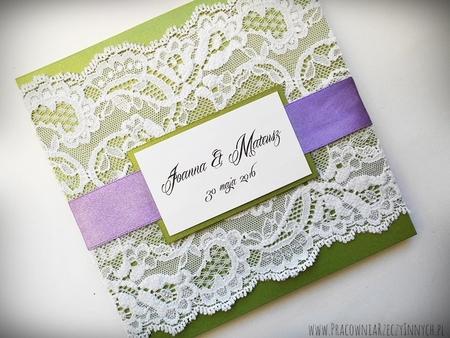Kolorowe zaproszenia z koronkami (12)