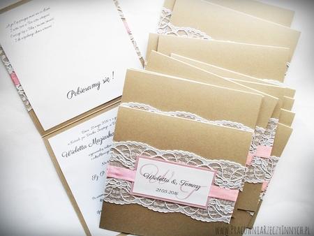 Kolorowe zaproszenia z koronkami (5)