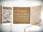 Romantyczne zaproszenia z eko papieru i koronki (12)